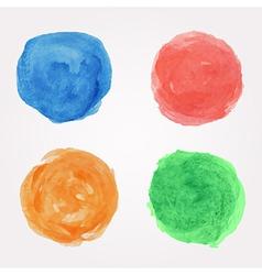 set of round watercolor design elements vector image vector image