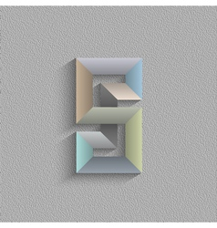 Abstract geometric shape vector image vector image