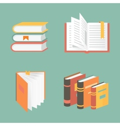 book icons and symbols - education concepts vector image vector image