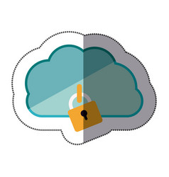 cloud hosting data center icon vector image