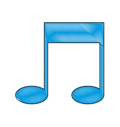drawing note music sound melody icon vector image