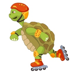 Funny Turtle Roller vector image vector image