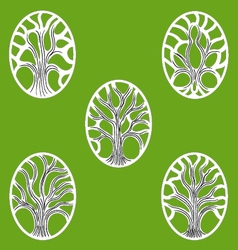 Gree Tree Of Life icon vector image vector image