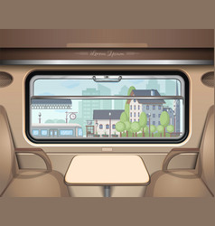 view of the railway station from the train window vector image