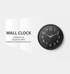 3d realistic simple round black wall office vector