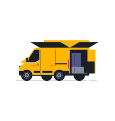 A van for an online home delivery service vector