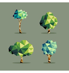 Abstract triangle Tree set vector image