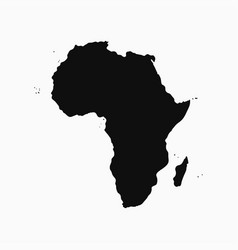 africa continent - map vector image