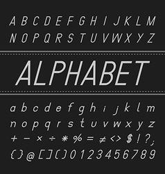 Alphabet Font Design Italic vector