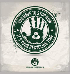 alternative recycling time stamp vector image