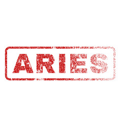 Aries rubber stamp vector