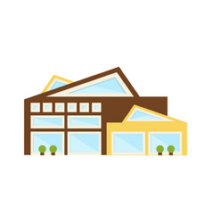 Assymetrical sharp edge artistic shopping mall vector