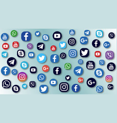 Background social media icons vector