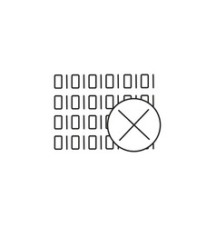 Binary code error icon vector