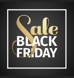 black friday sale gold lettering holiday shopping vector image