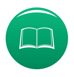book university icon green vector image