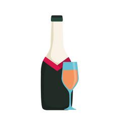bottle wine vector image