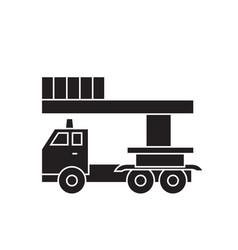 bucket service truck black concept icon vector image