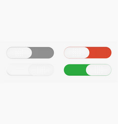 buttons on and off switch vector image