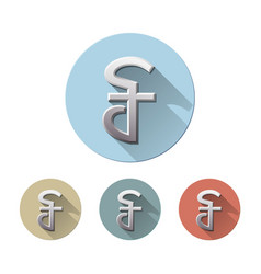 Cambodian riel currency symbol vector