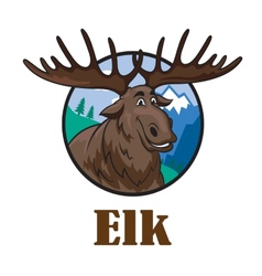 Cartoon moose or elk vector