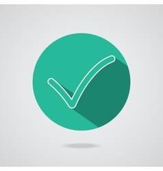 Check mark Flat icon vector