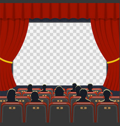Cinema auditorium with seats and audience vector