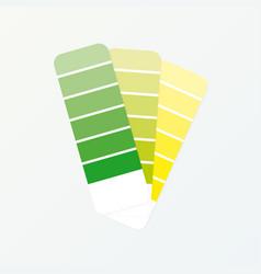 Color palette guide on grey background vector
