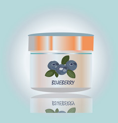 cosmetic elegant container with cream healty with vector image