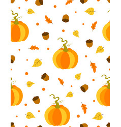 cute autumn background seamless pattern with vector image