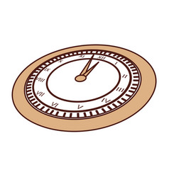 Cute brown clock cartoon vector