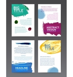 Design templates with watercolor vector