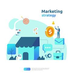 Digital mobile and affiliate online social media vector