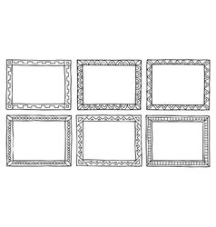 Doodle frameworks vector