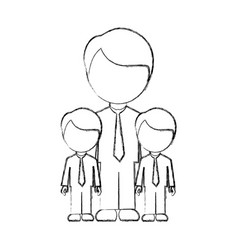 Figure man her boys twins icon vector