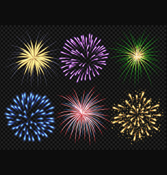 fireworks explosion birthday party big bang vector image