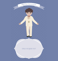 First communion 2017 boys-05 vector