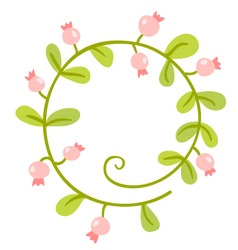 Floral Frame Cute retro flowers wreath vector