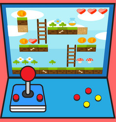 game machine game controller game interface design vector image