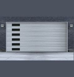 Garage entrance design vector