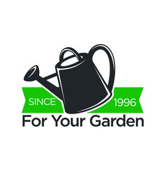 Gardener shop icon for gardening vector