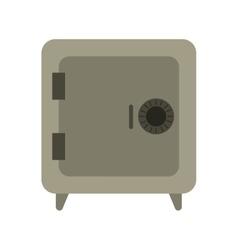 gray closed safe box money bank vector image
