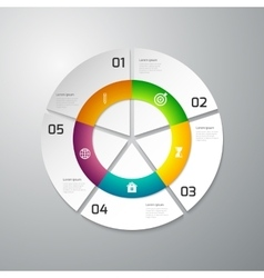 Infographics paper circle vector