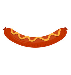 isolated fried sausage with sauce vector image