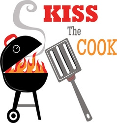 Kiss the Cook vector image