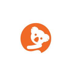 koala icon vector image