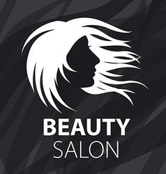 Logo fluttering female hair vector