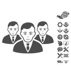 Manager Group Icon With Tools Bonus vector