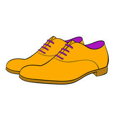 men shoes icon cartoon vector image