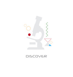 microscope science equipment explore discover vector image